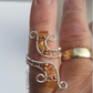 GENUINE Imperial Topaz Statement ring (3 Carats) with Sterling Silver wire and a
