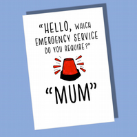 Birthday Card Mum, Card for Mother, Funny card for mum