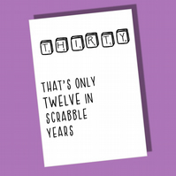 30th Birthday Card, Thirtieth Birthday card, Age card