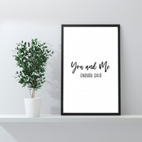 Husband Gifts Wife Gifts Relationship Prints Bedroom Prints