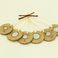 Seaside Atoll Hanging Decorations (set of 6)