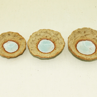 Mini Seaside Atoll bowls (Set of 3 little sizes)