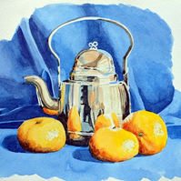 Teapot - watercolour illustration