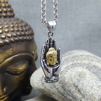 Necklace. Mens Pendant. Women Pendant. Buddha Hand. INKACREATIONS. Unisex.