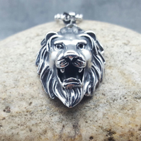 Necklace-Mens Pendant-Women Pendant-Lion-Lion Pendant-INKACREATIONS