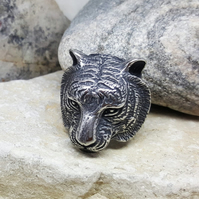 Tiger Ring. Steel Rings. Animal. INKACREATIONS. Safari Unisex Jewellery. Mens