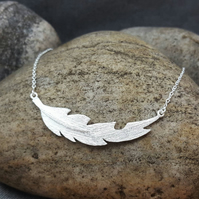 Women's Necklace. Silver Pendant. LEAF Silver Necklace. Gift for Anniversary.