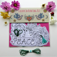 Colour in Bunting Garland Kit