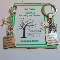 2020 Teachers Plant Seeds of Knowledge Teacher Gift Key Ring or Bag Charm Person