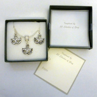 Inspired by 50 Fifty Shades of Grey Mask Necklace and Earring Set in Gift Box
