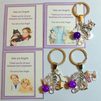 Thank You Gift to Show Appreciation for Vet Showing Kindness Compassion Key Ring