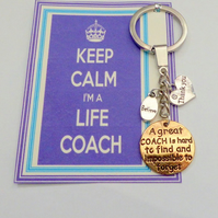 Mentor Life Coach Thank You Gift to Show Appreciation to Trainer Key Ring