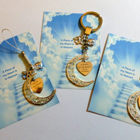 A Piece of my Heart is in Heaven Memorial Remembrance Sympathy Gift with Filigre