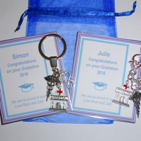 Congratulations on Graduation Nurse or Doctor Key Ring or Bag Charm