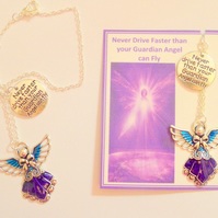 Never Drive Faster than Your Guardian Angel can Fly Charm Gift Driving Test