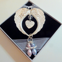 A Piece of my Heart is In Heaven Remembrance Gift Angel Double Wings Gift