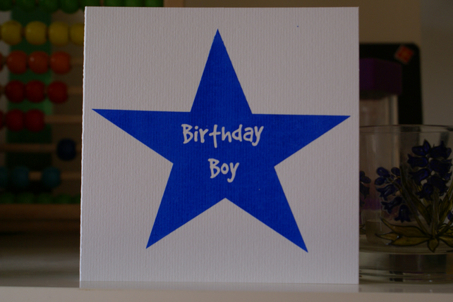 Screen printed birthday card