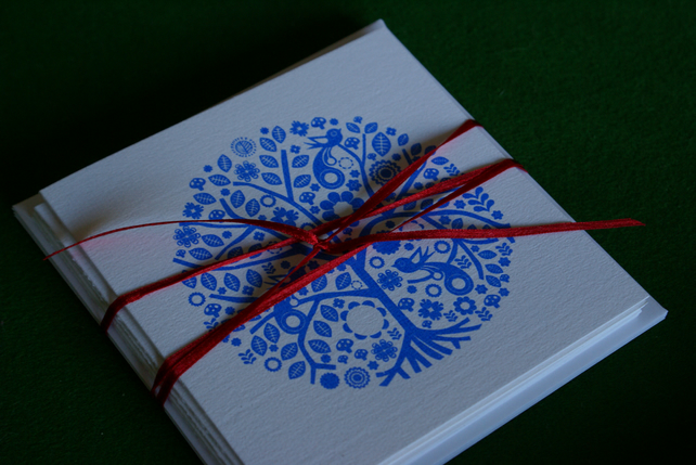 Bundle of 5 screen printed cards
