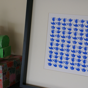 Teapots and coffee pots Screen Print Poster A2 size