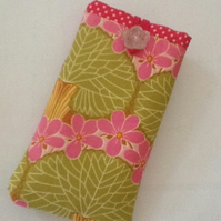 Phone sleeve case in bright pinks