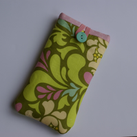 Phone sleeve with designer fabric