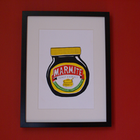 Marmite Limited Edition screen print art