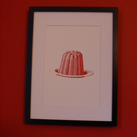 Jelly vintage image screen print limited edition signed art