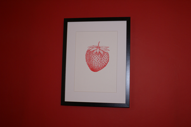 Screen print strawberry limited edition signed art