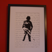 Bruce Springsteen Born in the USA screen print limited edition signed art