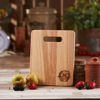 Hand Decorated Mouse Design Wooden Chopping Board
