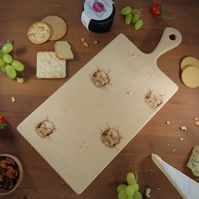 Mouse Design Hand-Decorated Solid Maple Chopping Board