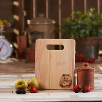 Hedgehog Design Hand Decorated Wooden Chopping Board