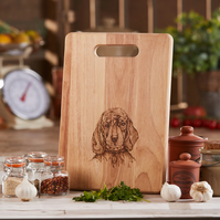 Dog Design Hand Decorated Wooden Chopping Board