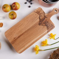 Hand Decorated Horse Design Oak Chopping Board