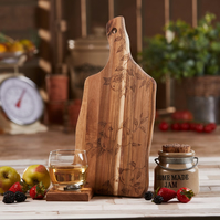 Apple Design Hand Decorated Acacia Chopping Serving Board