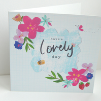 Have a lovely day greeting card, Modern floral design
