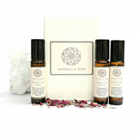 Essential Oil Roll On Trio Gift Set - De Stress, Energy & Nighttime