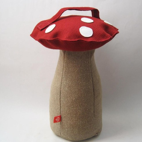 Toadstool Doorstop Tall Red White