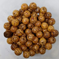 Exotic Wooden Round Beads Various (Priced and Bagged in Qty 10 beads)