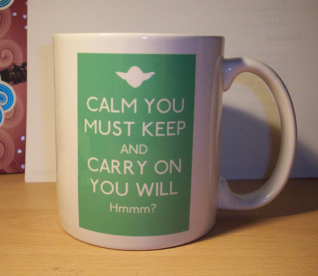 Yoda Star Wars Keep Calm And Carry On Mug