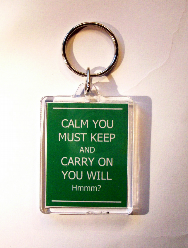 Yoda Keep Calm Keyring