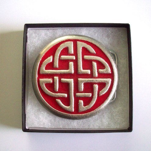Enamelled Celtic Belt Buckle