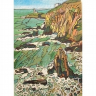 South Stack Lighthouse ACEO Ltd Ed Print