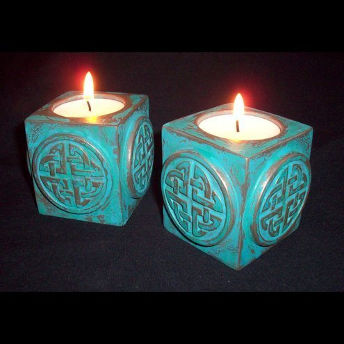 2 Celtic Tea Light Holders
