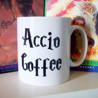 Harry Potter inspired Accio Coffee mug