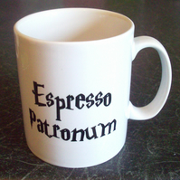 Harry Potter inspired Espresso Patronum coffee mug