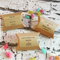 Personalised Wedding Favours Including Sweets and Personalised Labels Party Favo