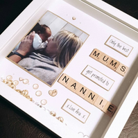 Only the Best Mums get promoted to Nana Handmade Personalised Scrabble Frame any
