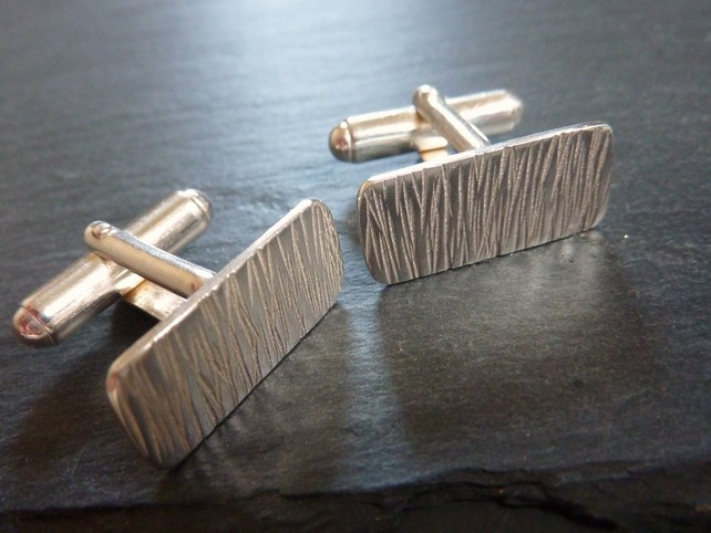 Bark textured cufflinks