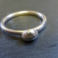 Silver Nugget Stacking Ring